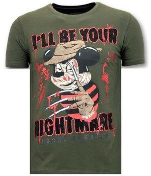 Local Fanatic Freddy Krueger Men T Shirts - Green