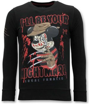 Local Fanatic Freddy Krueger Men Sweatshirt - Black