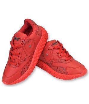 Cash Money Paint Splatter Shoes - CMS181 - Red