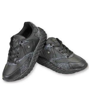 Cash Money Paint Splatter Shoes - CMS181 - Black