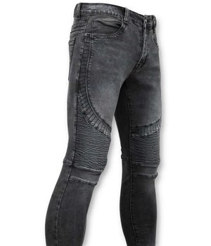 True Rise Basic Biker Jeans Men - U141-5 Gray