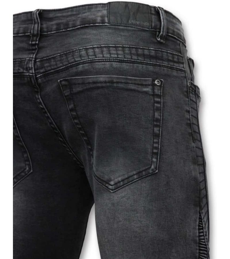 True Rise Basic Biker Jeans Men - U141-5 Gray