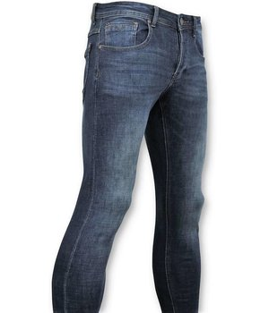 True Rise Classic Men Jeans - Jeans Washed - D3060 - Blue