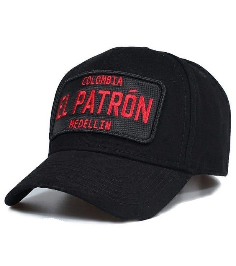 Enos El Patron Printed Cap For Men - Black