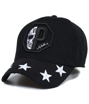 Enos Baseball Cap Men - Skull Star - Black
