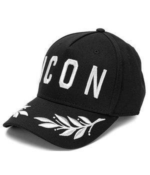 Enos Embroidery Maple Leaf Cap ICON - Black