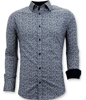 Tony Backer Tailored Shirts Men - Slim Fit Luxurious Shirt - 3045 - Blue
