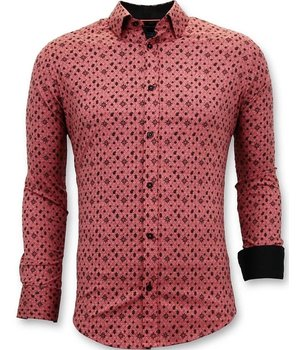 Tony Backer Business Mens Shirt - Slim Fit - 3044 - Red
