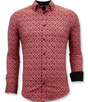 Tony Backer Printed Collar Shirts Men - 3044 - Red