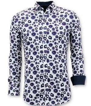 Tony Backer Luxury Twin Casual Men's Shirts - Digital Printing - 3058 - White
