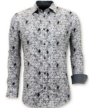 Tony Backer Luxury Seating Men Free Shirts - Digital Printing - 3051 - White