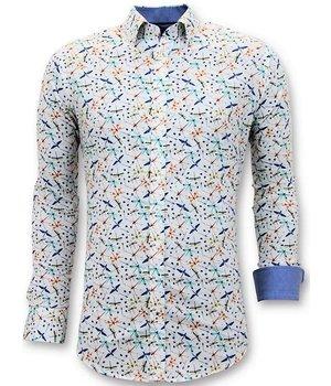 Tony Backer Luxury Men's Shirts Digital Print - Exclusive Shirts - 3063 - White