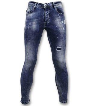 True Rise Men Painted Jean  - A35D - Blue