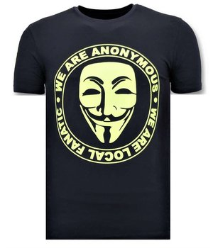 Local Fanatic Exclusive Men's T-Shirt - We Are Anonymous - Blue