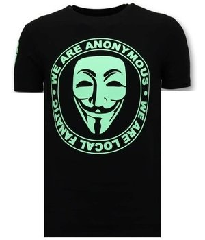 Local Fanatic Men T Shirt We Are Anonymous - Black