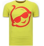 Local Fanatic T-shirt Men With Print - Zwitsal With Sunglass - Yellow