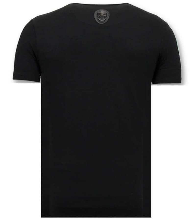 Local Fanatic T-Shirt Men With Print - Zwitsal With Sunglass - Black