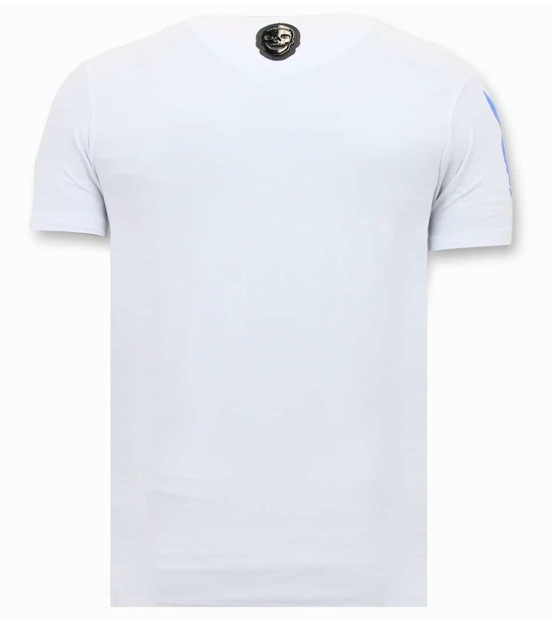 Local Fanatic Exclusive Men's T-shirt - Destroyed Playtoy - White