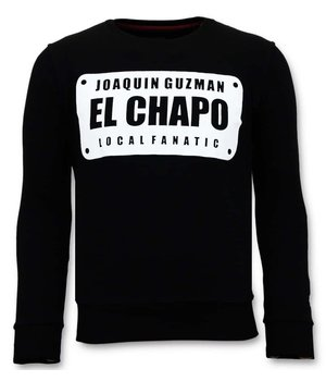 Local Fanatic Exclusive Men's - Joaquin El Chapo Guzman - Black