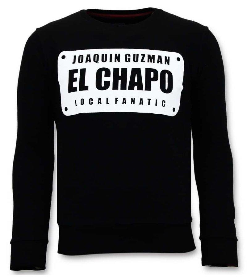 Local Fanatic Exclusive Men's - Joaquin El Chapo Guzman - Black