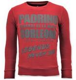 Local Fanatic Tough Men Sweater - Padrino Corleone - Red