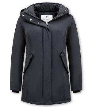 Matogla Women Winter Coat - 0681 - Black