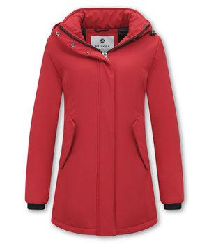 Matogla Women Winter Coat - 0681 - Red