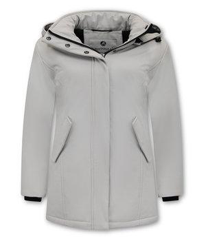 Matogla Women Winter Coat - 0681 - White
