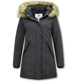 Matogla Parka Women - Fake fur collar - Slim Fit - Black