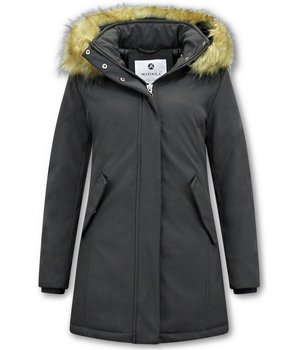 Matogla Fake Fur Winter Coat Women  - 0681 - Black
