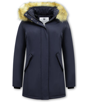 Matogla Parka Women - Fake fur collar - Slim Fit - Blue