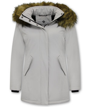 Matogla Fake Fur Winter Coat Women - 0681 - White