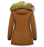 Matogla Parka Women - Fake fur collar - Slim Fit - Brown