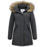 Matogla Parka Women - Genuine Fur collar - Slim Fit - Black