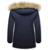 Matogla Parka Women - Genuine Fur collar - Slim Fit - Blue