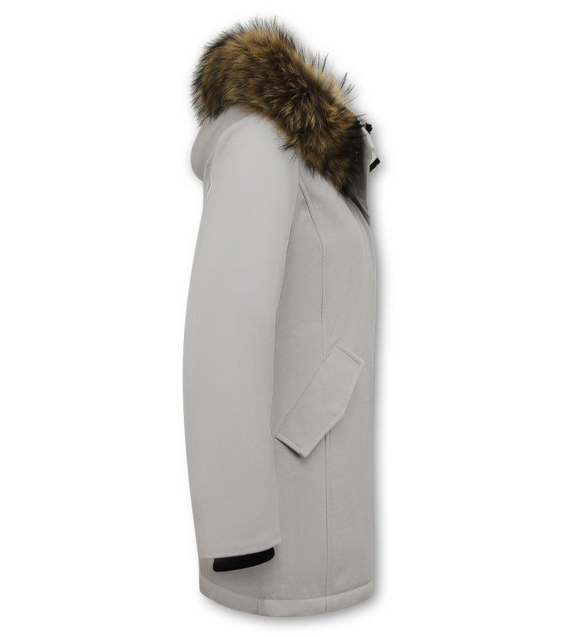 Matogla Parka Women - Genuine Fur collar - Slim Fit - beige