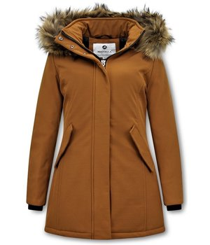 Matogla Parka Women - Genuine Fur collar - Slim Fit - Brown