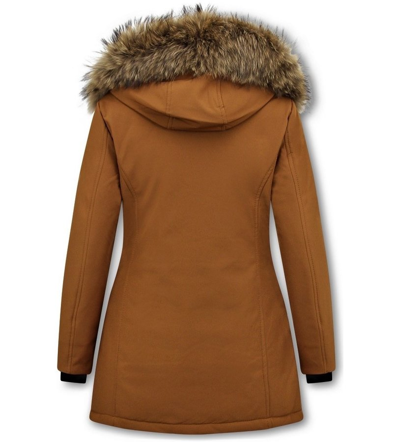 Matogla Parka Women - Genuine Fur collar - Slim Fit - Brown