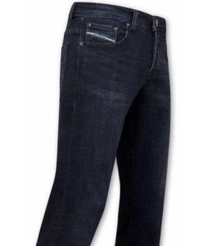 True Rise Plain Jeans For Men - A-11025 - Navy