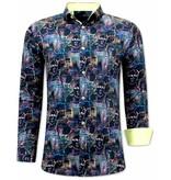 Tony Backer 3D Printed Men Shirts - 3067 - Black