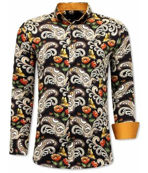 Tony Backer Paisley Printed Shirt - 3073 - Brown
