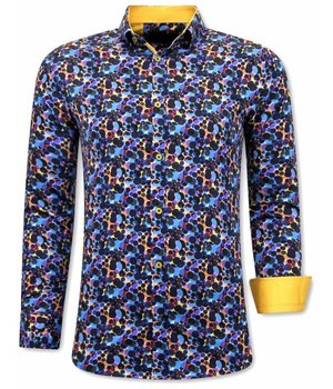 Tony Backer Rainbow Paint Splatter Shirts - 3072 - Blue