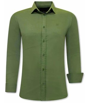 Tony Backer Plain Collar Shirts For Men - 3083 - Green