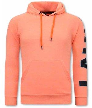 Tony Backer Oversized Hoodies For Men - Orange