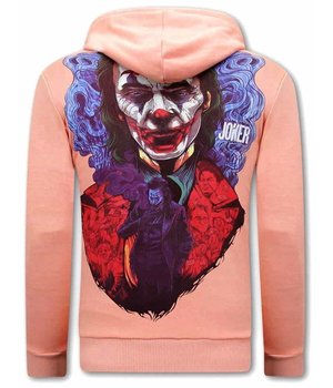 Tony Backer Men Hoodies With Joker Print - Pink