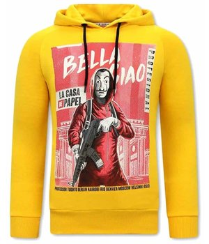 Tony Backer Bella Ciao Printed Hoodie - Yellow