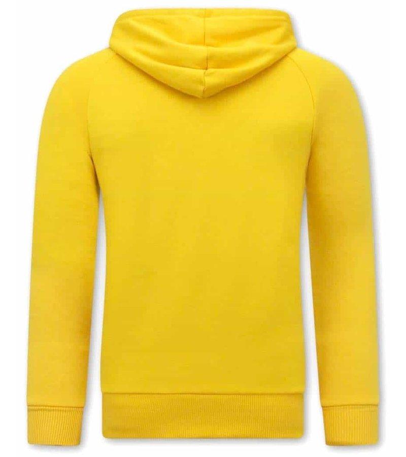 Tony Backer Bella Ciao Printed Hoodie - Yellow