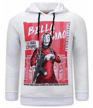 Tony Backer Bella Ciao Printed Hoodie - White