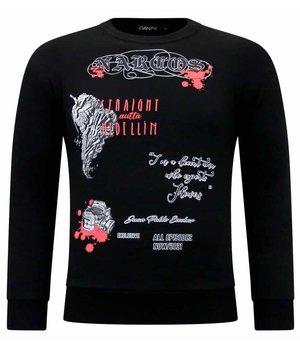 Tony Backer Narcos Printed Sweater - Black