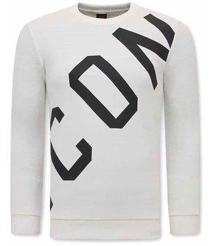 Tony Backer ICON Printed Sweater - White